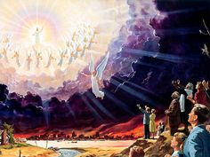 """""""Look, he is coming with the clouds, and every eye will see him, even those who pierced him; and all the peoples of the earth will mourn because of him. So shall it be! Amen."""" Revelation 1:7"""