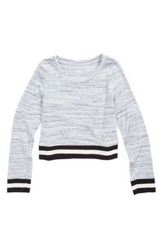 Zella Girl Retro Stripe Tee (Little Girls & Big Girls) Big Girl Clothes, Striped Tee, Rib Knit, Cool Style, Long Sleeve Tees, Girl Outfits, Men Sweater, Bring It On, Nordstrom