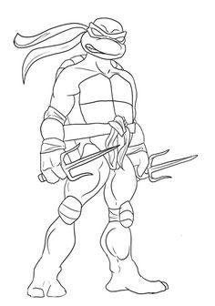 Leonardo Ninja Turtle Coloring Page