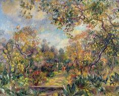Paysage à Beaulieu, par Auguste Renoir #obrasdearte