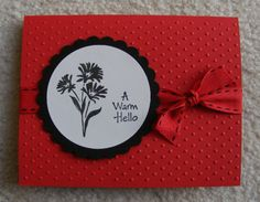 LSC210 Inkadinkado Flower Card by deeth1 - Cards and Paper Crafts at Splitcoaststampers