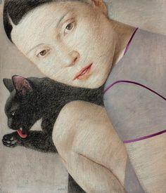 Vladimir Dunjic (Serbian, b. 1957).   nine cat's lives: http://vladimirdunjic.com/nine-cats-lives/the-forth-life/