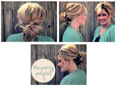 bouncy wrapped ponytail