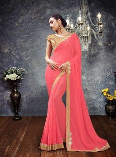 Saree: Saree Fabric/Material: Georgette  Saree Type: Saree With Blouse Saree Work: Printed Length of Saree: 5.5 Meters Blouse: Blouse Fabric/Material: Georgette Length of Blouse: 80 Centimeter Additional Information: Occasion: Ceremonies, Festivals and Weddings Wash Care: Gentle Hand Wash - Dry Clean Recommended  Disclaimer: The image represents the actual product and it is provided as a reference to the product. However, product color may slightly vary due to photographic lighting....