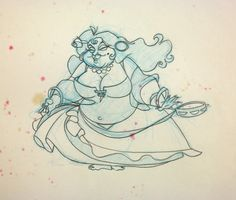 #disney 1985 Walt Disney THE BLACK CAULDRON Dancing Gypsy Woman Production Drawing please retweet