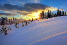 Mt Rainier Winter Sunset by kevin mcneal, via Flickr