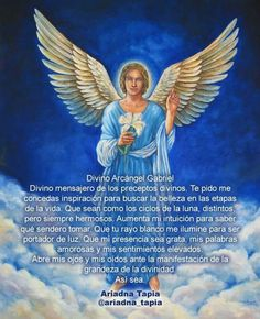 Archangel Gabriel – Healing, Symbols and Prayer. Gabriel helps with openness and honesty in order to tell the truth, thus increasing our respect for truth. Angel Images, Angel Pictures, Angels Among Us, Angels And Demons, Christian Warrior, Spiritual Prayers, Archangel Raphael, Angel Aesthetic, Black Angels