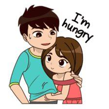 So Much Love 2 sticker Cute Love Stories, Cute Love Gif, Cute Love Couple, Cute Couple Pictures, Love Cartoon Couple, Cute Cartoon Pictures, Cute Couple Drawings, Love Drawings, Cute Love Cartoons