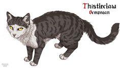 Thistleclaw (Warrior, mentored Tigerstar) Of dark forest, formerly of Thunderclan.