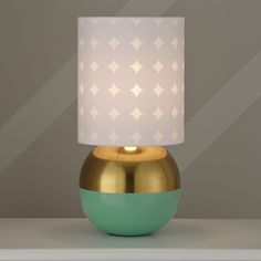 gold dipped lamp