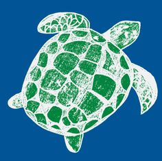 Loggerhead sea turtles Blue and Green by lisakling, click to purchase fabric