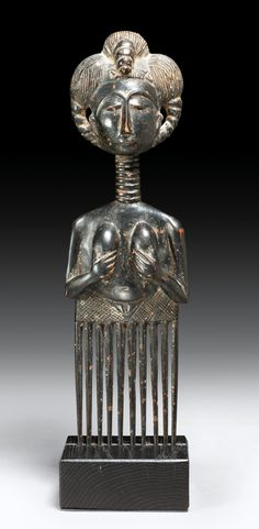 Africa | Comb from the Asante people of Ghana | Wood