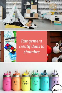 Des idées de rangements créatifs et ludiques pour booster l'imagination de vos enfants ! 3 Kids, Children, Projects To Try, Imagination, Activities, Holiday Decor, Room, Diy, Organiser