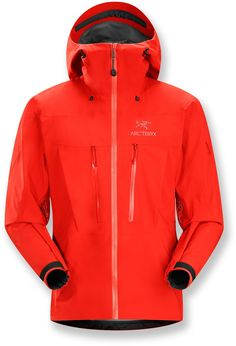 Ideal for climbing and mountaineering, with rugged GORE-TEX® Pro fabric—Men's Arc'teryx Alpha SV Jacket.