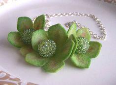 Beautiful felt necklace