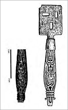 Bronzed key from Birka's Garrison. From Rus', Varangians and Birka Warriors | Charlotte Hedenstierna-Jonson - Academia.edu (tg)