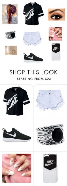 """""""Nike shopping"""" by theycallmepoopey ❤ liked on Polyvore featuring NIKE, One Teaspoon and Effy Jewelry"""