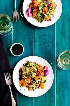 Veggie Ribbon Salad with Sesame Tangerine #Vinaigrette - #recipe at cali-zona.com