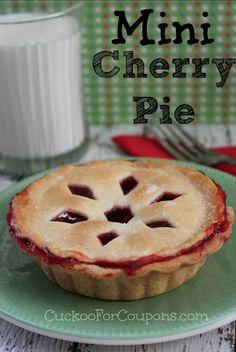 Mini Cherry Pie - easy! #Thanksgiving