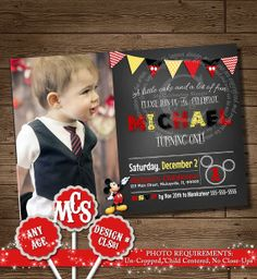 HUGE SELECTION Mickey Mouse Invitation, Birthday Invitation, Birthday Decorations, My Celebration Shoppe, Printable Invitation, Mickey Mouse on Etsy, $9.00