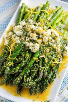 Vegetable Sides, Vegetable Side Dishes, Vegetable Recipes, Vegetarian Recipes, Cooking Recipes, Healthy Recipes, Veggie Recipes Sides, Grilled Asparagus Recipes, Lemon Asparagus