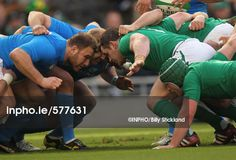 Inpho Sports Photography Ireland - RBS Six Nations Championship Ireland vs Italy Lorenzo Cittadini of Italy and Cian Healy of Ireland before a scrum Mandatory Credit ©INPHO/Billy Stickland Six Nations, Rugby, Ireland, Wrestling, Sports, Photography, Lucha Libre, Hs Sports, Photograph