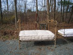 if brass daybed; love the mattress! great distress!  but maybe too high on sides for us