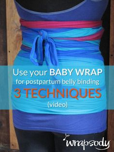 Use your baby wrap for pregnancy and postpartum belly binding - Click through to learn more about belly binding, and pin for the videos that show how you can do it! Diy Postpartum, Postpartum Recovery, Postpartum Belly Binding, Tummy Wrap, Just In Case, Just For You, Moby Wrap, Post Pregnancy, Pregnancy Fitness
