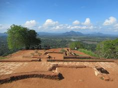 The foundations of a former palace or monastery cover much of the summit pleau at Sigiriya Lion Rock. The views of central Sri Lanka are excellent.