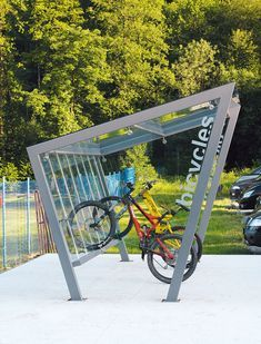 Edge bike shelter by