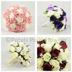 Artificial Wedding Flowers by Petals Polly, ARTIFICIAL/SILK BRIDES POSY/BOUQUET #PetalsPollyFlowers