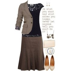 Simple Brown and Navy by jamie-burditt on Polyvore featuring L.K.Bennett, Mexx, CC, Shoe Cult, Glint and Accessorize