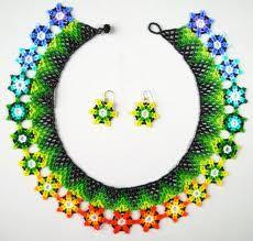 """Saraguro Flores"" - traditional Saraguro-style broadcollar - pattern by sharonerwine"