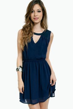 Neck Out Skater Dress