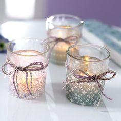 """Teelichthalter-Set """"Pastell"""""""