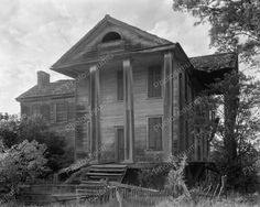 Abandoned Mansion 1940's Vintage 8x10 Reprint Of Old Photo