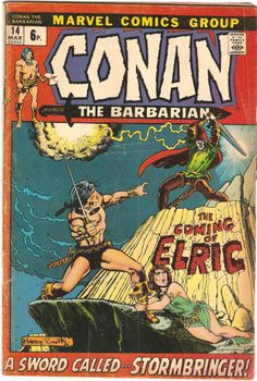 Conan The Barbarian. Vol. 1, No. 14. U.S. Marvel Comic. Mar. 1972.