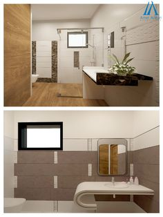 Modern Bathroom 3D Design Ideas by AmerAdnan.com