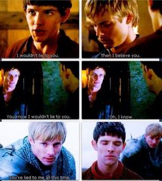 The feels!!! Look at Merlin's face! :(