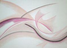 Wellen, Pastell auf Leinwand, BxH 80x60cm