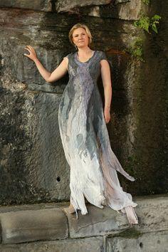 Felted dress Amethyst fashionable clothes от VERAALEXANDEROVA