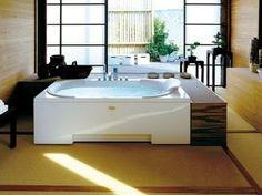 Whirlpool rectangular built-in bathtub