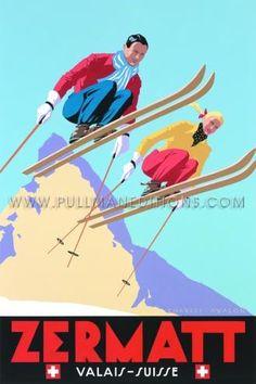 Zermatt: 'Skiing Couple'