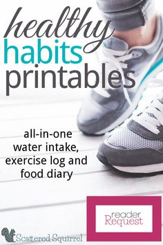 This Healthy Habits Printable will help track your water intake, log your exercise and record what youve eaten each day. It was designed for those who want to give themselves a way to monitor healthy habits. Fitness Journal, Fitness Planner, Fitness Binder, Weight Loss Journal, Weight Loss Tips, Get Healthy, Healthy Habits, Food Tracking, Health And Wellness