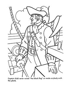 Caribbean Pirates of the Sea Coloring page
