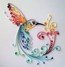 """Quilling Art: """"Bird of Happiness"""" Colourful Paper Art, Wall Art and Deco from BestQuillings on Etsy. Quilled Paper Art, Paper Quilling Designs, Quilling Paper Craft, Paper Crafting, Quilling Ideas, Quilling Images, Arte Quilling, Quilling Work, Quilling Tutorial"""