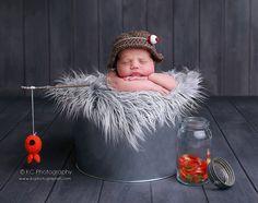 Bébé Bonnet pêcheur set nouveau-né Photo Prop par Beansknots