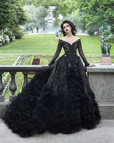 Gothic Wedding Dresses: Challenging Traditions Goth Wedding Dresses, Black Wedding Gowns, Black Ball Gowns, Gothic Gowns, Gothic Dress, Lace Bridesmaids, Bridesmaid Dresses, Prom Dresses, Bridesmaid Gifts