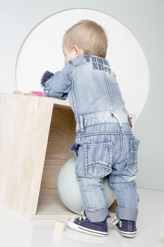 // tumblendry baby. what a great denim suit for baby boys!!!
