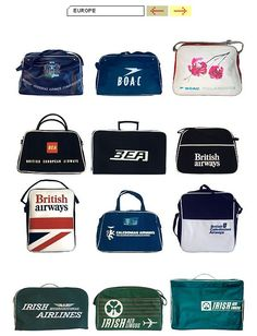 Vintage airline travel bags